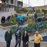 Andrea Van-Sittart (second left) at the launch of community gardens in Letchworth Garden City