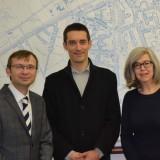 David Ames, Stephan Sadoux and Dr Susan Parham