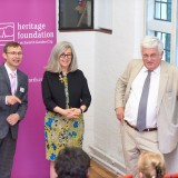 David Ames (left) with the authors at the launch of Garden Cities - Why Not at the Institute