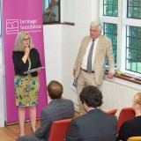 Dr Susan Parham and Keith Boyfield at the launch of Garden Cities - Why Not at the Institute